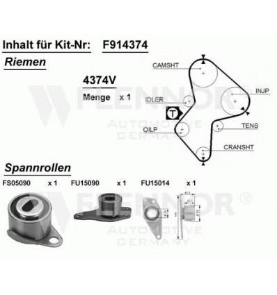 Kit distribution pour renault megane 1.9 D/ DTI/ DT