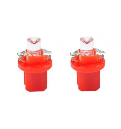 Ampoules LED B8.50 1 x Flux creuse rouge 12V Ampoule Halogene, Xenon et Kit Xenon,feux diurnes à led