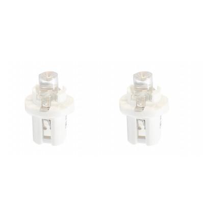 Ampoules LED B8.5d Blanche 12V tableau de bord