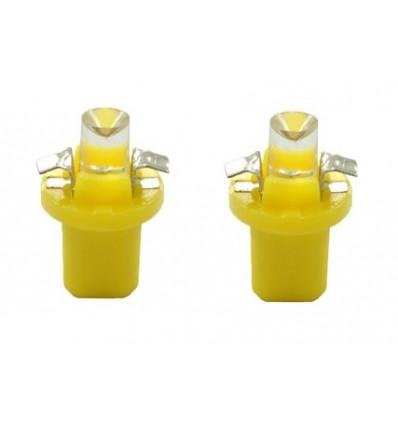 Ampoules LED B8.50 Creuse Jaune 12V tableau de bord / feux de signalisation