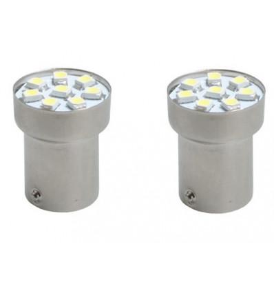 2 Ampoules LED BA15s G18 SMD 5050 Blanche 12V Ampoule Halogene, Xenon et Kit Xenon,feux diurnes à led