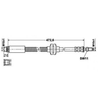 TRW Flexible de frein Droit ou Gauche Avant pour FIAT SCUDO PEUGEOT 806 PHB371