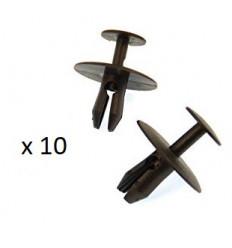 10 Clips de fixation panneau de porte Citroen Peugeot