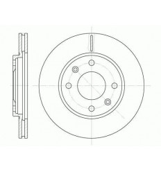 Disque de frein avant Citroen Ax Saxo Zx Peugeot 106 205 206 306 309 Disque de frein