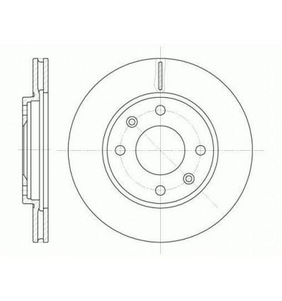 Disque de frein avant Citroen Ax Saxo Zx Peugeot 106 205 206 306 309