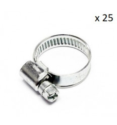 Boite de 25 Colliers de serrage durite diametre 16/27