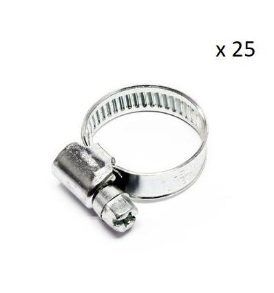 Boite de 25 Colliers de serrage durite diametre 20-32 Outillage