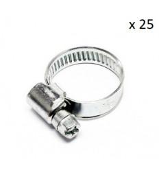 Boite de 25 Colliers de serrage durite diametre 25/40