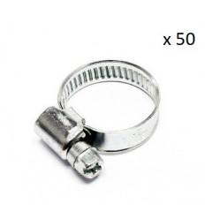 Boite de 50 Colliers de serrage durite diametre 8-12