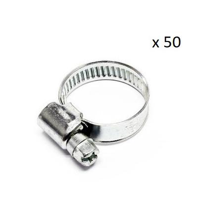 Boite de 50 Colliers de serrage durite diametre 8-12 Outillage