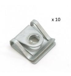 10 x Clips de fixation cache sous moteur Audi A4 A6
