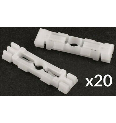 Lot de 20 clips de fixation enjoliveur de pavillon - baguette de porte - enjoliveur de pare-brise Seat VW Pieces Carrosserie