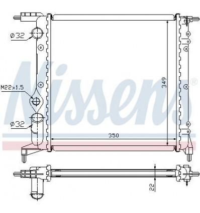 Radiateur de refroidissement Clio Refroidissement Chauffage ventilation Resistance