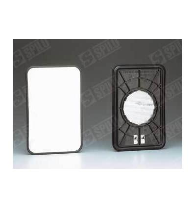 Glace de rétro avec support G/D EL CH pour MERCEDES MB 100 93-