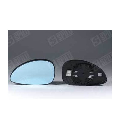 Glace de rétro bleu droit + support degivrant Citroen C4