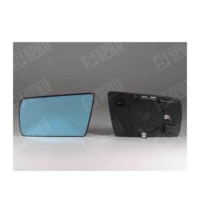 Glace de rétro bleu gauche + support dég Mercedes E W210