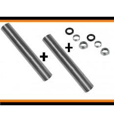 2 Kit roulement + 2 axe de brasTrain Arriere Peugeot 206 Pack d'article