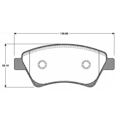jeu de plaquettes de frein avant renault megane 2 scenic 2 origine pieces auto. Black Bedroom Furniture Sets. Home Design Ideas