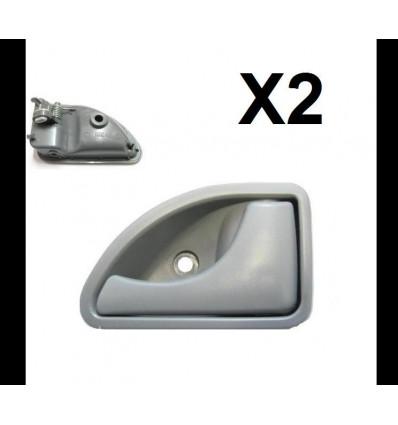 lot de 2 poign es de porte interieur gauche et droite renault twingo kangoo. Black Bedroom Furniture Sets. Home Design Ideas