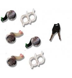 Lot de 4 Serrures de portes Renault Master 2 Mascott Opel Movano interstar 2 clés