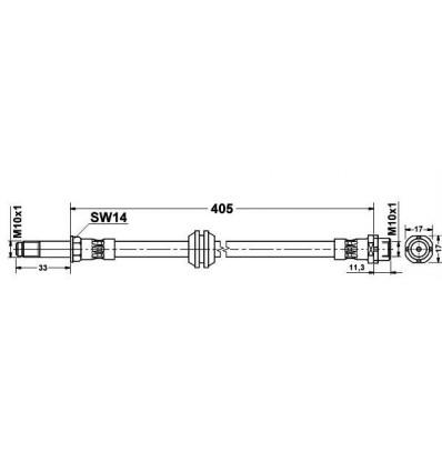Flexible de frein Avant Bmw E46 serie 3
