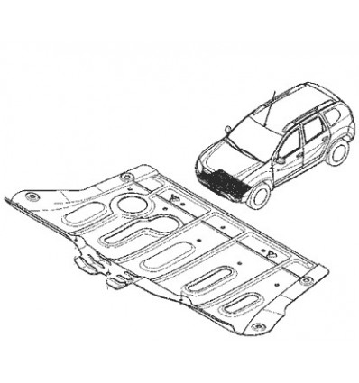 Cache de protection sous moteur Dacia Duster Dacia