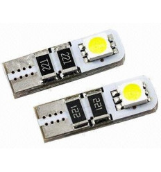 Lot de 2 ampoules veilleuse a LED w5w