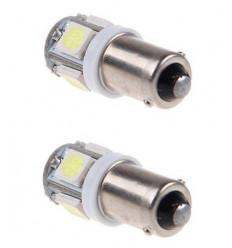 2 Ampoules veilleuses à led effet Xenon T11 BA9S
