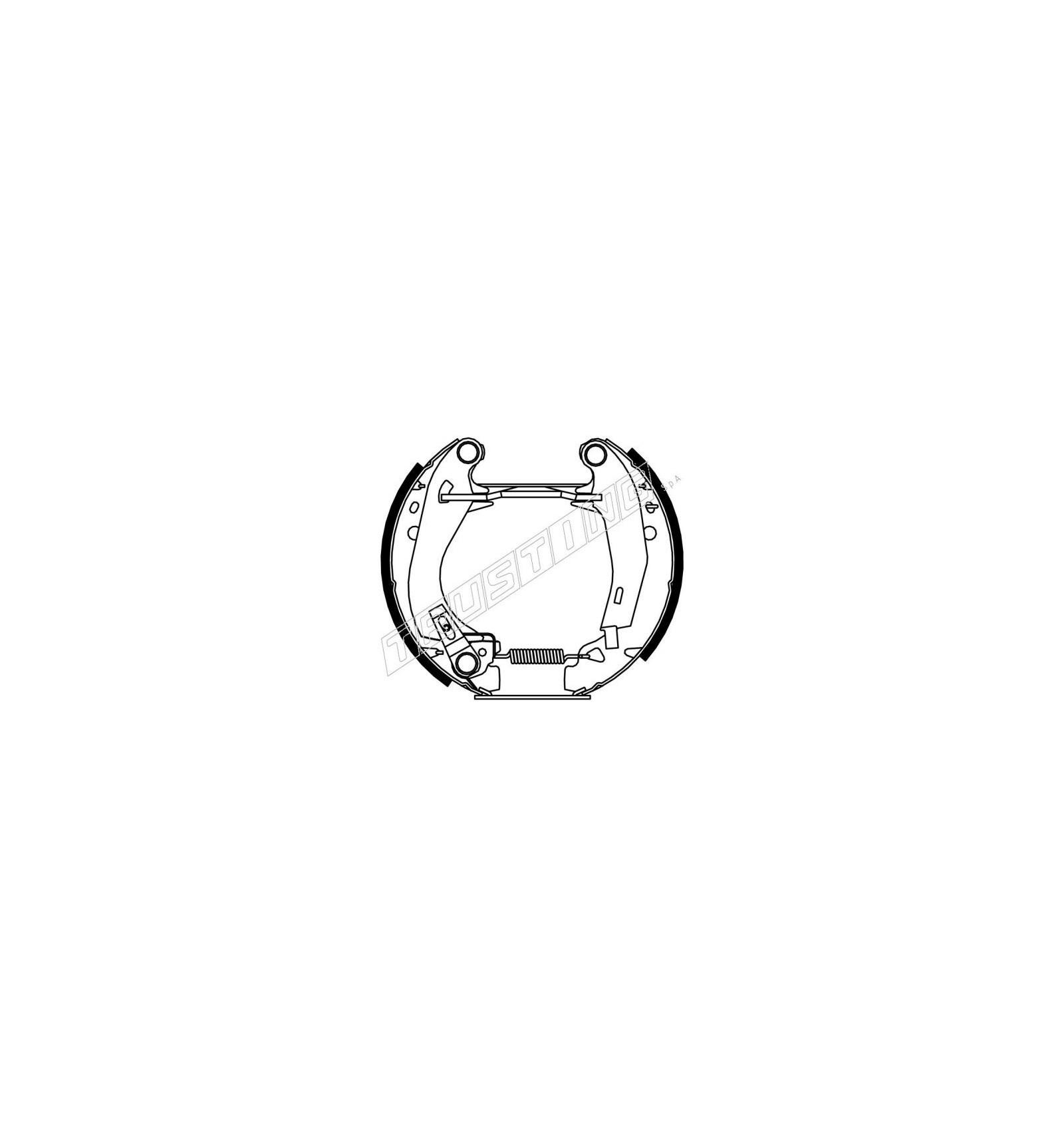 kit frein premont u00e9 pour peugeot 205
