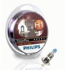 coffret 2 Ampoules H1 Philips Vision Plus Boites d' ampoules