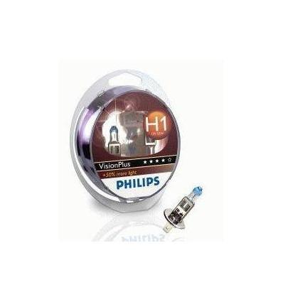 coffret 2 ampoules h1 philips visionplus. Black Bedroom Furniture Sets. Home Design Ideas