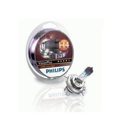 coffret 2 Ampoules H4 Philips VisionPlus