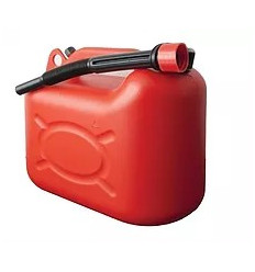 Jerrican plastique rouge Bidon 5L
