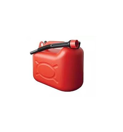 Jerrican plastique rouge 5L