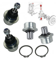 Kit 4 Rotules, pivots de suspension Renault Clio 3 RS Megane 3 RS