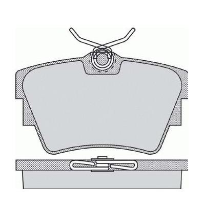 Plaquette de frein pour opel / nissan / traffic