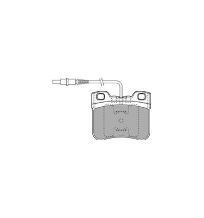 Plaquette de frein pour ax, saxo 106 phase 1 et 2