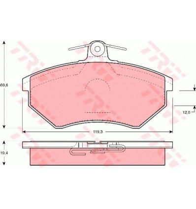 Plaquette de frein pour Audi / Cordoba / Ibiza