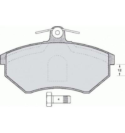 Plaquette de frein pour Audi 80/ A4