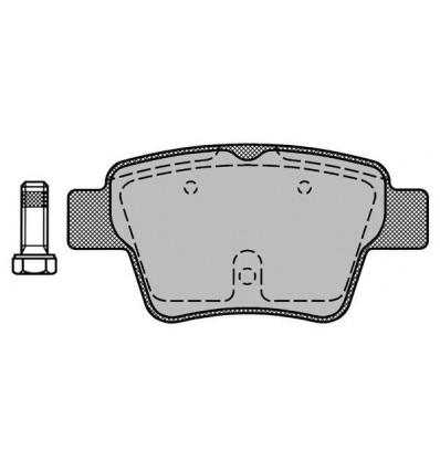 Plaquette de frein pour C4 / 207 /307